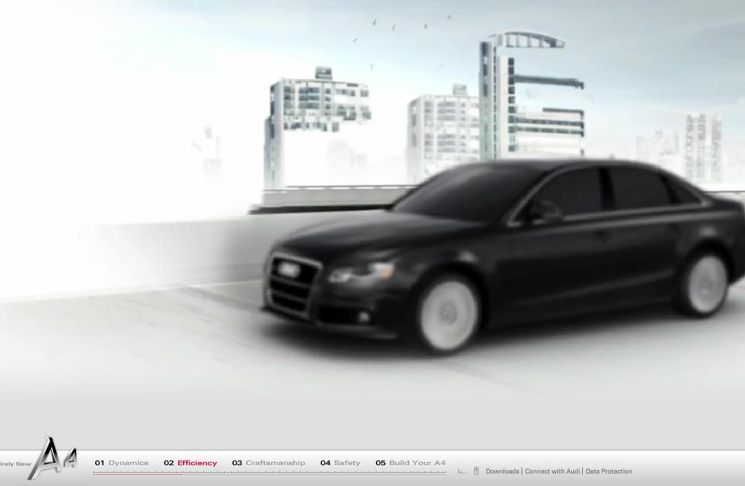 CacheFlowe | Code | Web | Audi A4 Microsite